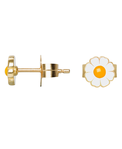 Wilhelmina Garcia | Gold Daisy Stud Earrings | Studio B Fashion
