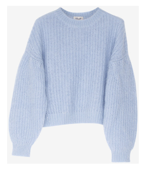 Baum und Pferdgarten-Chuden Chambray Blue Knit Jumper-Studio B Fashion