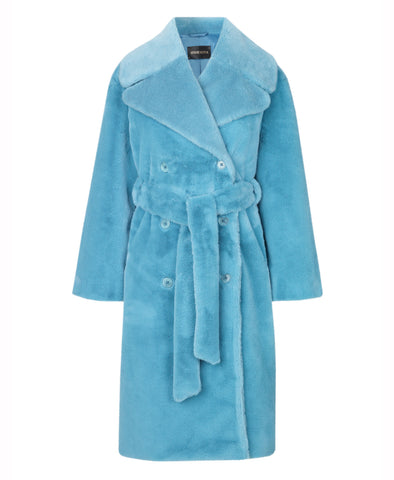 Stine Goya Happy Faux Fur Coat Teal