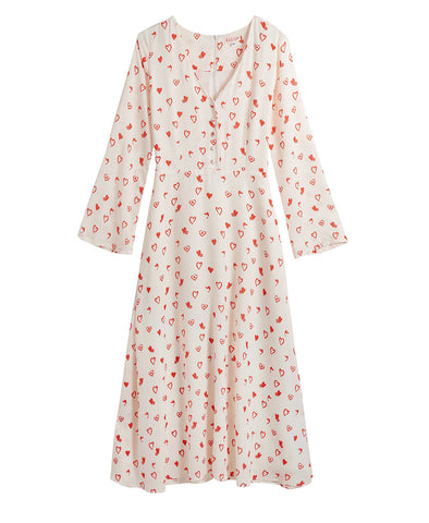 Bo Midi Dress Love Heart
