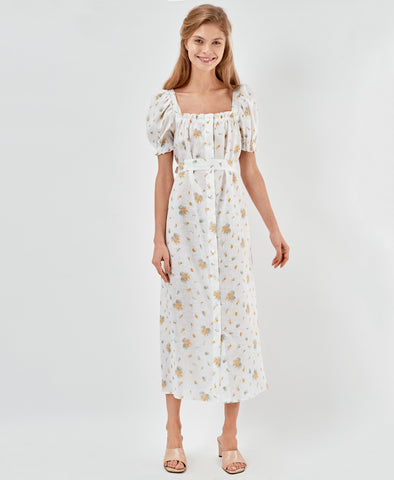 Sleeper Maxi Dress Brigitte in Mimosa
