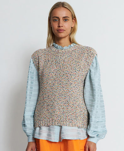 Stella Nova Hallie Knit Vest Rainbow Multicolour