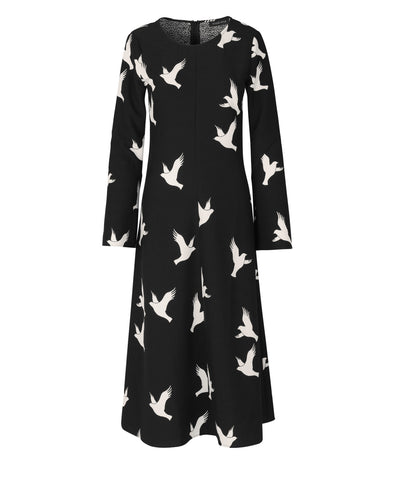 Clara Dress Doves Black