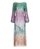 Rixo London - Coco Multi Colourful Sequin Midi Dress with Long Blouson Sleeves - New Rixo Collection Pre SS18 Space Age - Studio B Fashion