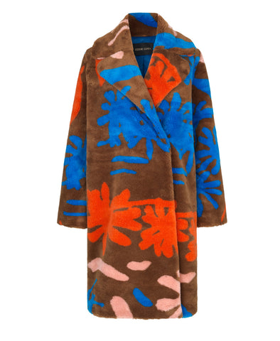 Concord Teddy Coat Flowers Print
