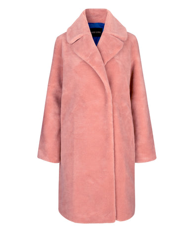 Concord Teddy Coat Rosette Pink
