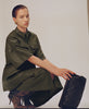 Gestuz. Dark Olive AlanaGZ Leather Shirt. Studio B Fashion