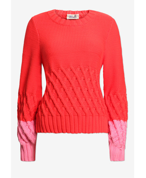 Cathay Poppy Red and Pink Knit