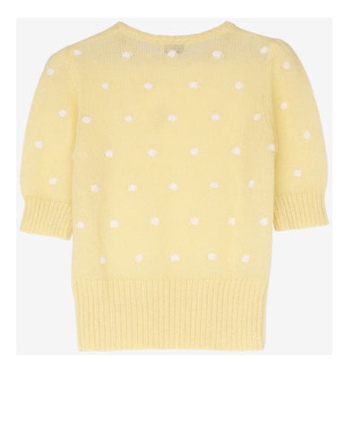 Chance Knitted Pom Pom Dotty Top