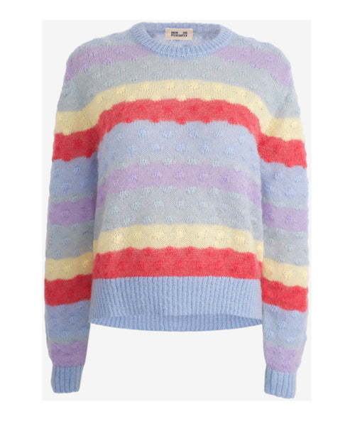Baum und Pferdgarten-Cheri Rainbow Stripe Knit Jumper-Studio B Fashion