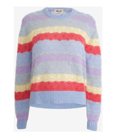 Cheri Rainbow Stripe Knit Jumper