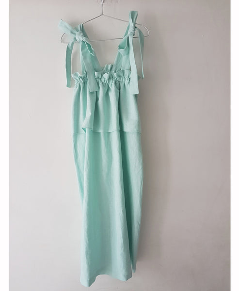 Concetta Mint Linen Dress - Studio B Fashion x Johanna Sands -Exclusive Linen Summer Dress Capsule