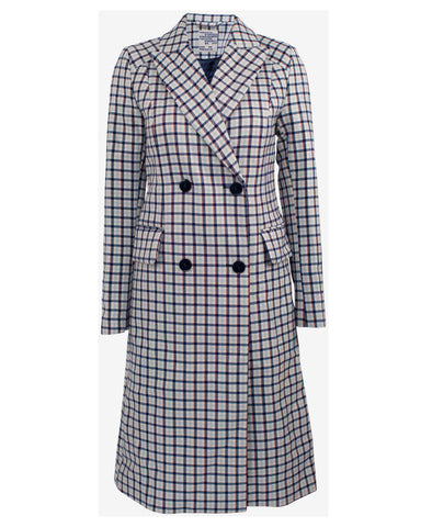 Damara Gingham Check Trench Coat