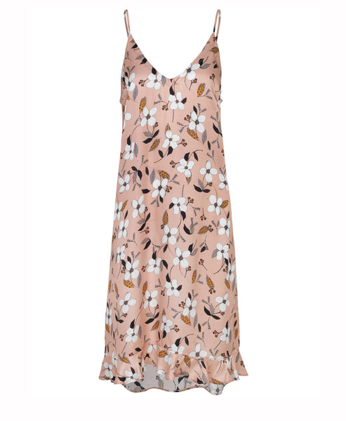 Munthe - Dessert Midi Slip Dress Nude Floral - Studio B Fashion