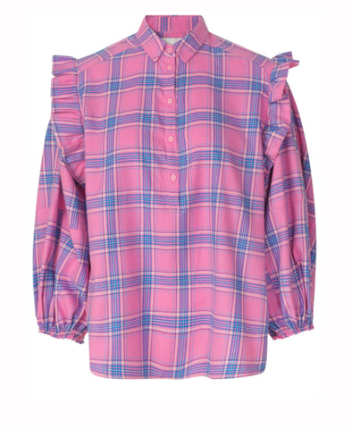 Dollar Pink Checked Shirt