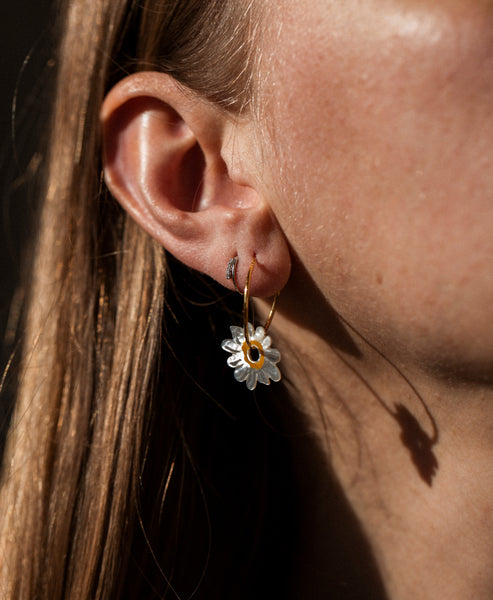 Wald Berlin. Daisy Bolero Earrings Gold Hoops. Studio B Fashion