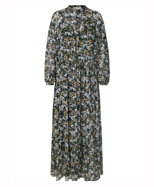 Munthe - Dingo Dress Black Floral Floaty Maxi - Studio B Fashion