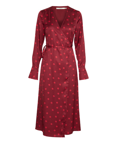 Elsie Polka Spot Wrap Dress