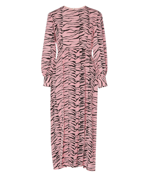 Rixo London - Emma Pink Black Tiger Midi Dress - Studio B Fashion