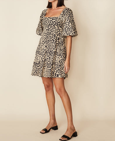 Faithfull Eryn Mini Dress Shamari Animal Print