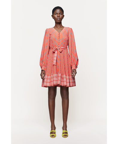 Stine Goya Farrow Dress Plaid Gingham Print