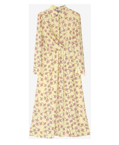 Alham Lemon Flowersketch Dress