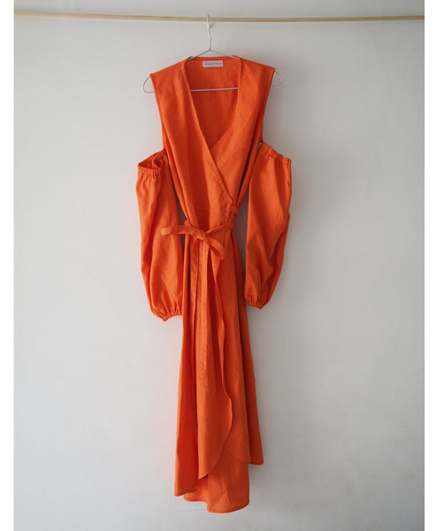 Studio B x Johanna Sands Linen Dress Exclusives - Forte Clementine Linen Wrap Dress