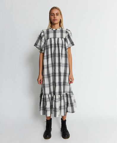 Stella Nova Pen Dress Creme Check