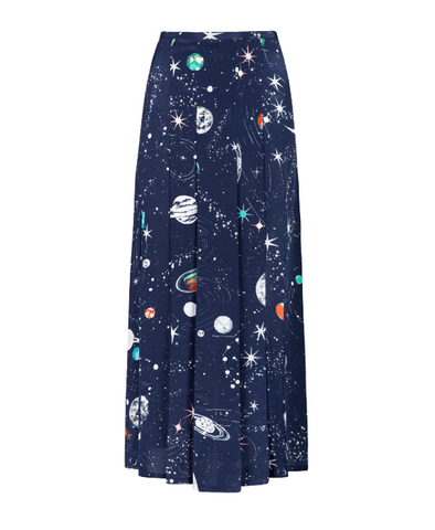 Georgia Cosmic Constellation Midi Skirt