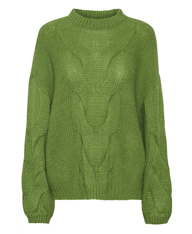 Gestuz Lime AnuraGZ Knitted Pullover