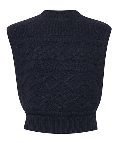 Gestuz Navy LupiaGZ Knitted Vest