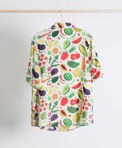 Fruit n Veg Healthy Silk PJ Style Shirt