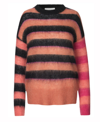 Munthe Hide Pink Wide Stripe Knit