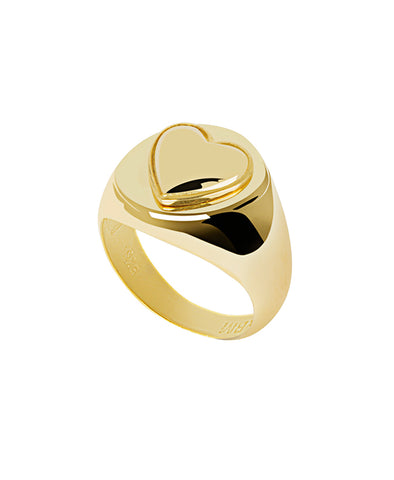 Wilhelmina Garcia Gold Naked Heart Ring