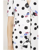 Jackson Bunched Daisy Maxi Polka Dot Dress
