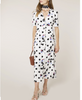Rixo London - Jackson Bunched Daisy Polka Dot Dress - Studio B Fashion - on model worn as dress