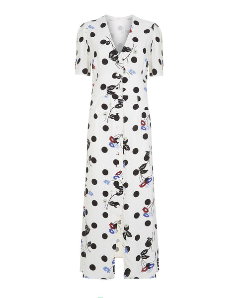 Rixo London - Jackson Bunched Daisy Polka Dot Dress - Studio B Fashion