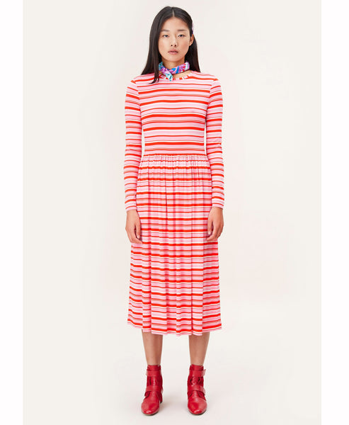 Stine Goya - Joel Jersey Dress Stripes Pink - Studio B Fashion