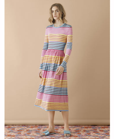 Joel Dress Colourful Stripes