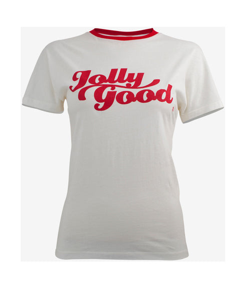 Jolly Good Printed White Tee