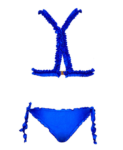 Patty Lou Bikini Top Blue