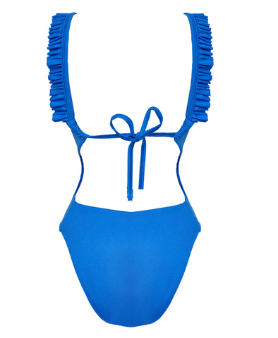 Natasha Back Tie Swimsuit Sky Blue