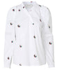 Munthe. Ladybug Top White with Yin-Yang Symbols. Studio B Fashion