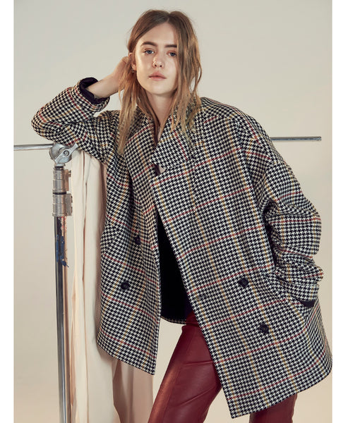 Gestuz - Jodo Houndstooth Check Oversized Jacket - Studio B Fashion