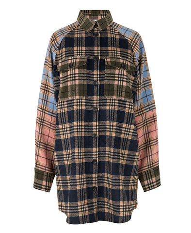 Munthe Luxor Mix Check Shirt Jacket