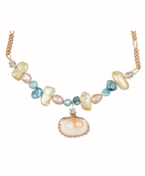 Wald Berlin - Fairtrade Jewellery made in Berlin - Studio B Fashion Lady Marmelade Pearl / Shell Necklace
