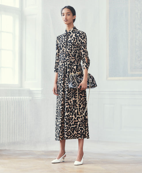 Baum und Pferdgarten- Alham Leopard Print Midi Dress- Studio B Fashion