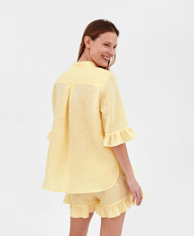 Sleeper Lemon Linen Lounge Suit