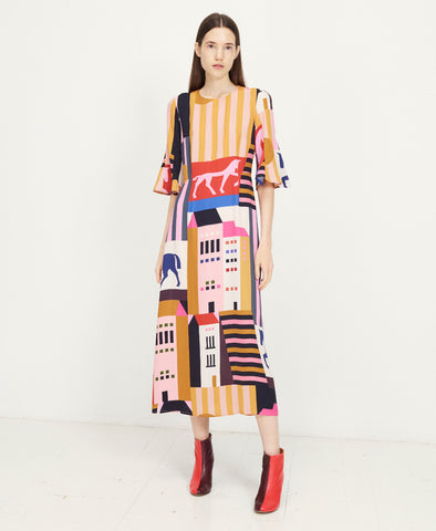 Kirsten Dress The City Print