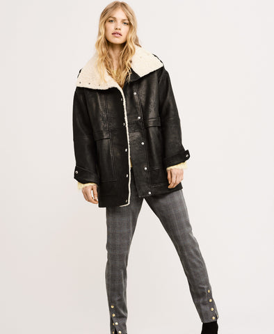 Lilli 100% Lamb Leather Oversized Jacket
